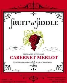 2012 wine label