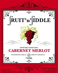 2012 wine label