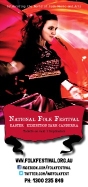 National Folk Festival one sided DL flyer