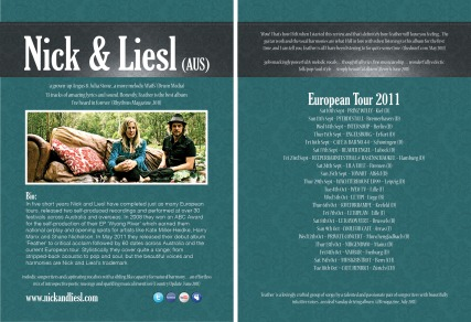 Nick & Liesl European Tour Post Card (double sided)
